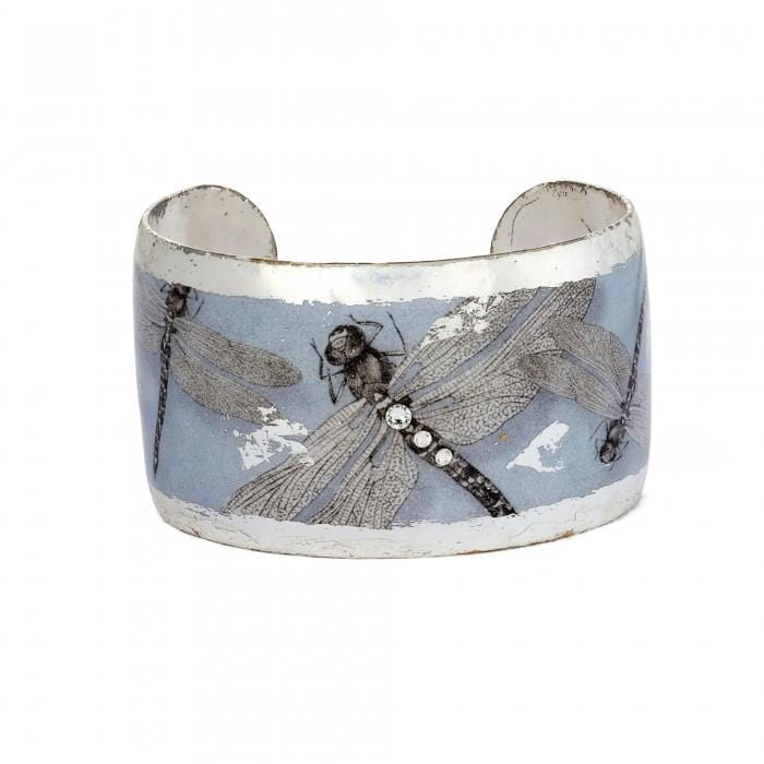 Dragonfly Silver Cuff - GN181-5S-Evocateur-Renee Taylor Gallery