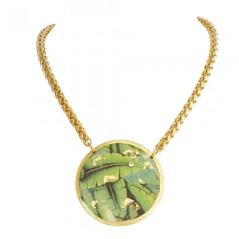 Banana Leaf Pendant - GN241-Evocateur-Renee Taylor Gallery