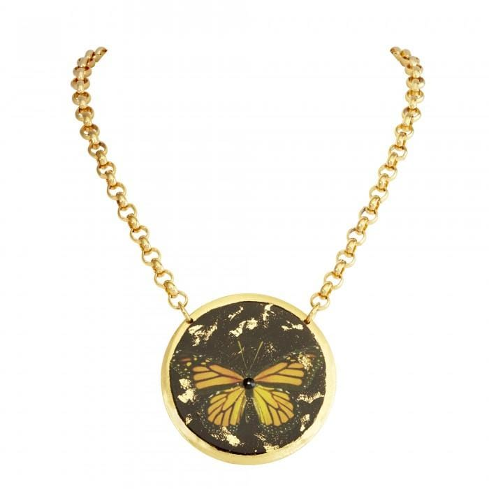 Monarch Butterfly Pendant - GN244-Evocateur-Renee Taylor Gallery