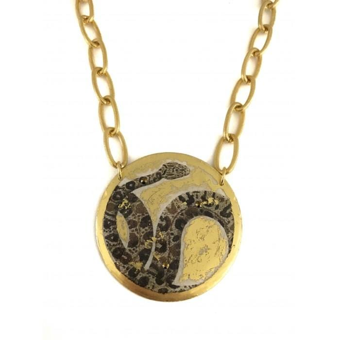 Python Snake Necklace - GN246-Evocateur-Renee Taylor Gallery