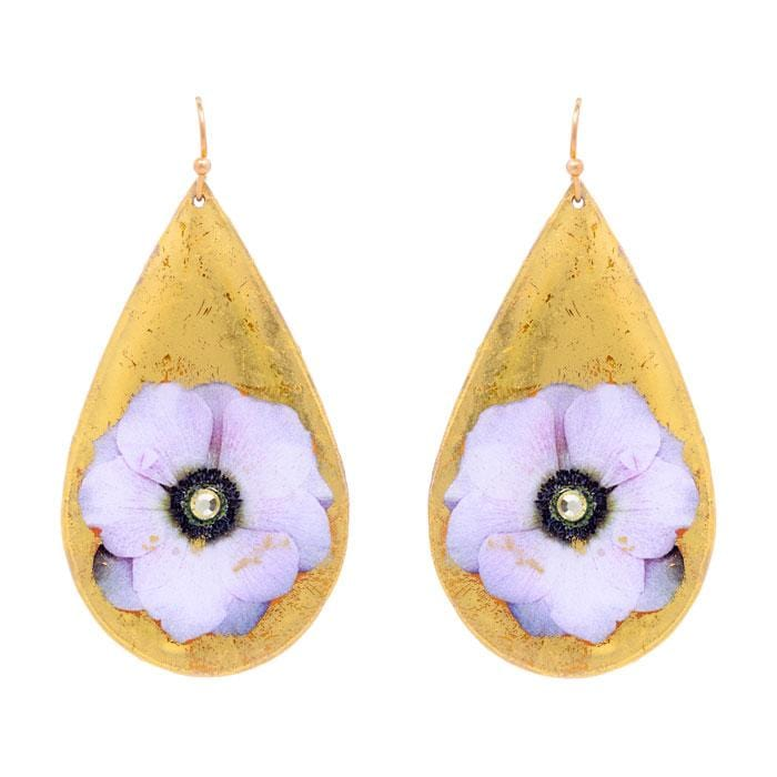 Anemone Teardrop Earrings - GN421-Evocateur-Renee Taylor Gallery