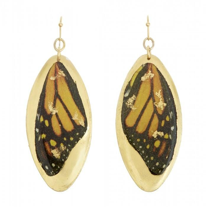 Monarch Wing Earrings - GN450-Evocateur-Renee Taylor Gallery