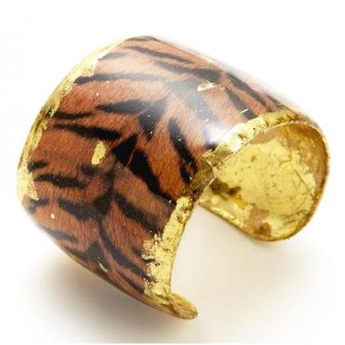 Tiger Print Cuff - HS119-Evocateur-Renee Taylor Gallery