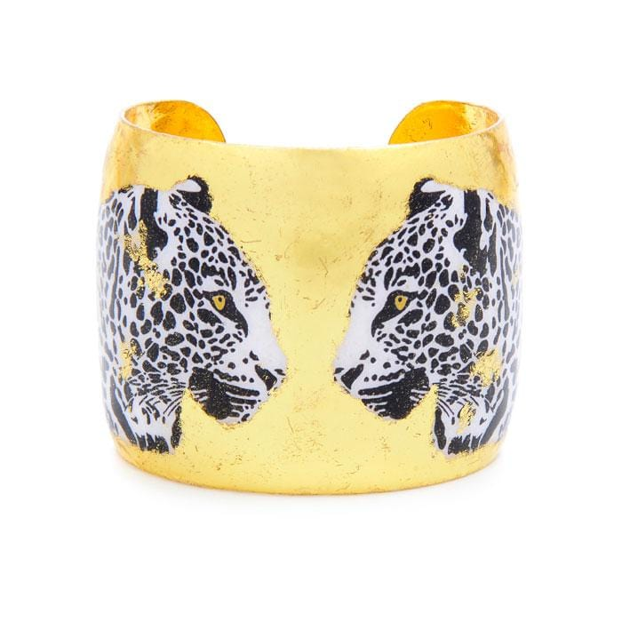 Two Leopards Gold Cuff - HS132 - Evocateur