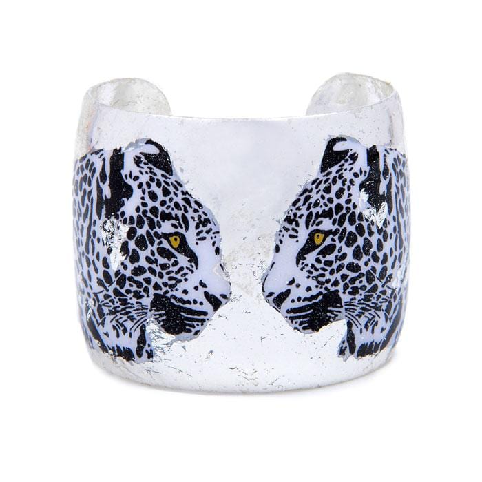 Two Leopards Silver Cuff - HS133-Evocateur-Renee Taylor Gallery