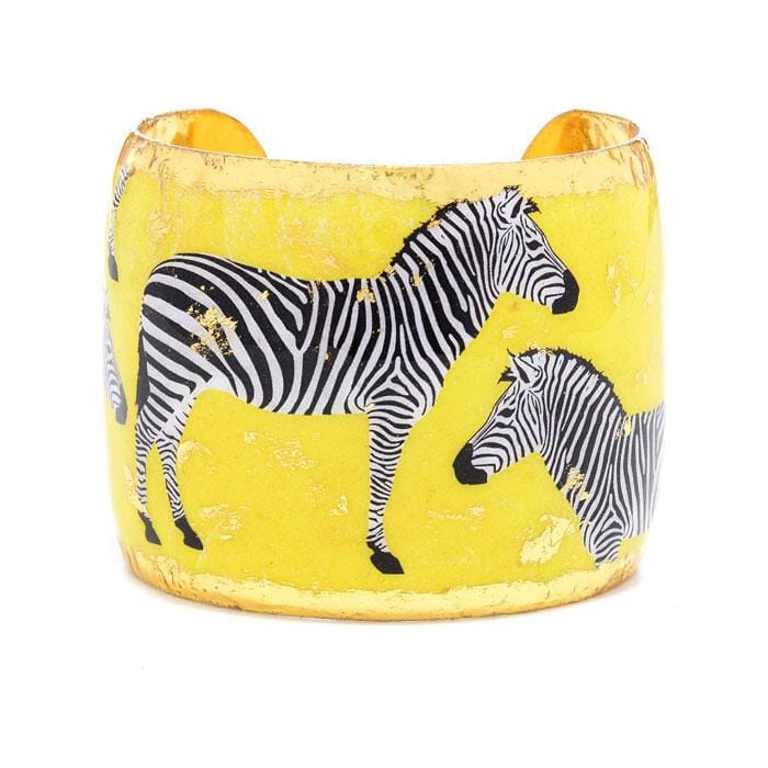 Zebra Dreams Yellow Cuff - HS139-Evocateur-Renee Taylor Gallery