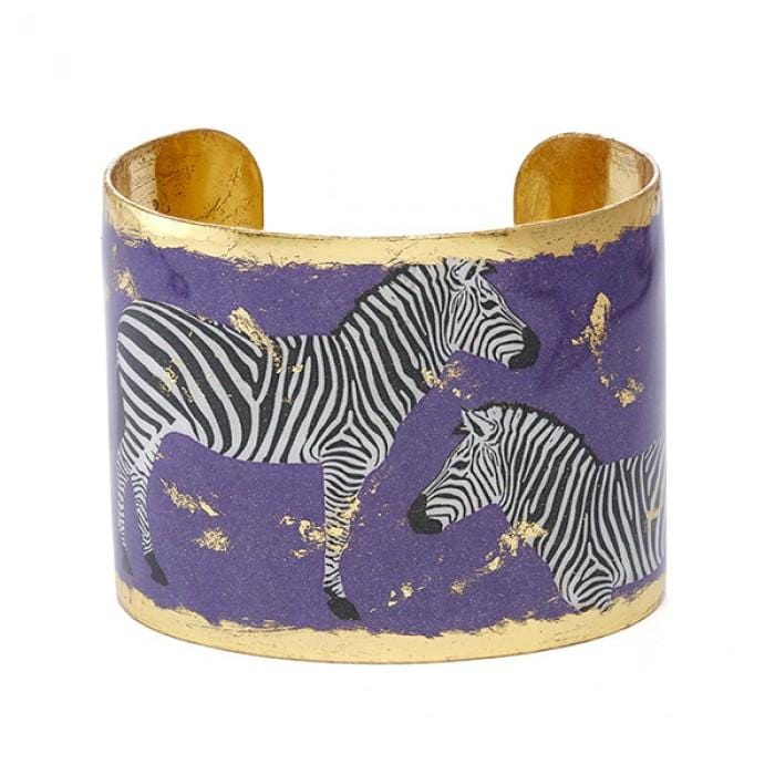 "Zebra Dreams Purple 2"" Cuff - HS151-Evocateur-Renee Taylor Gallery"