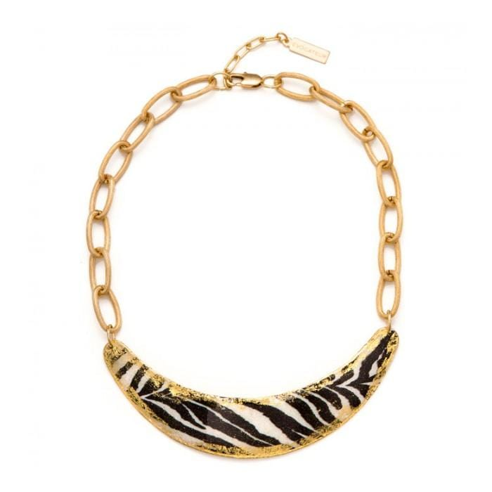 Zebra Boomer Necklace - HS207-Evocateur-Renee Taylor Gallery