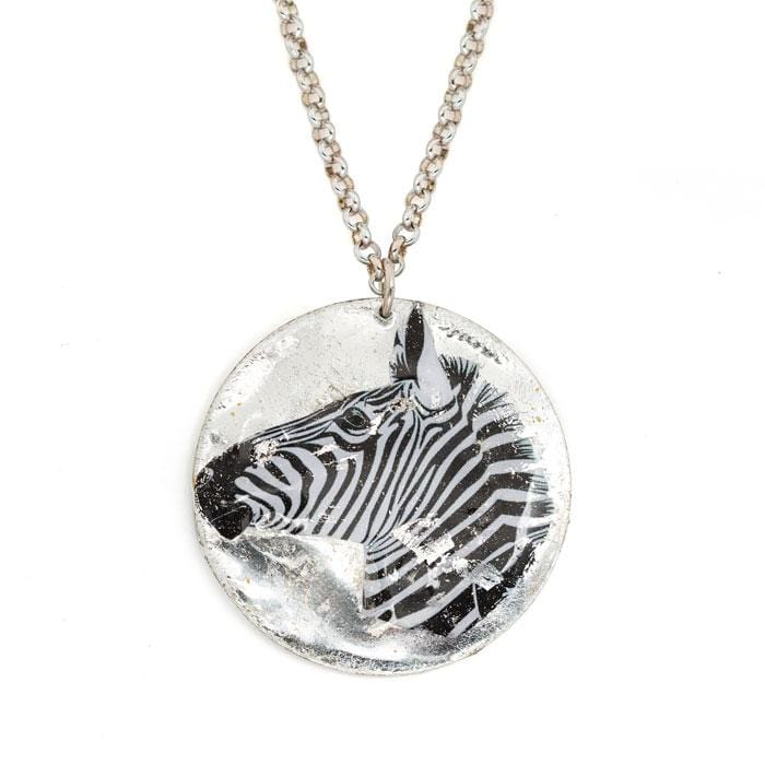Zebra Head Pendant - HS208-Evocateur-Renee Taylor Gallery