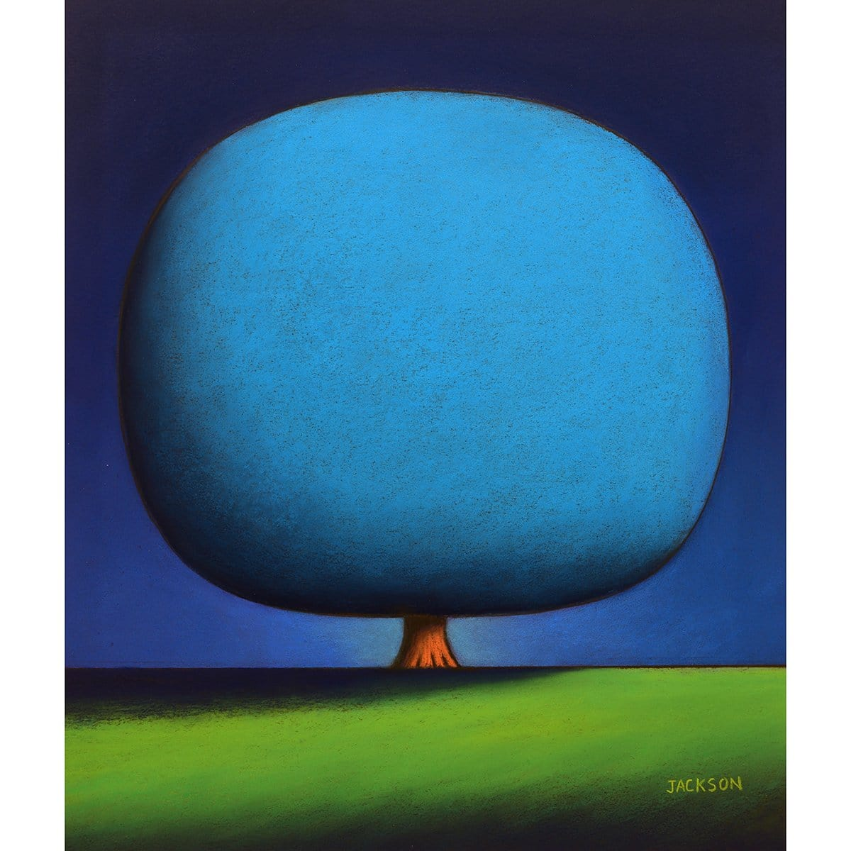 """Happy Blue Tree""-Christopher Jackson-Renee Taylor Gallery"
