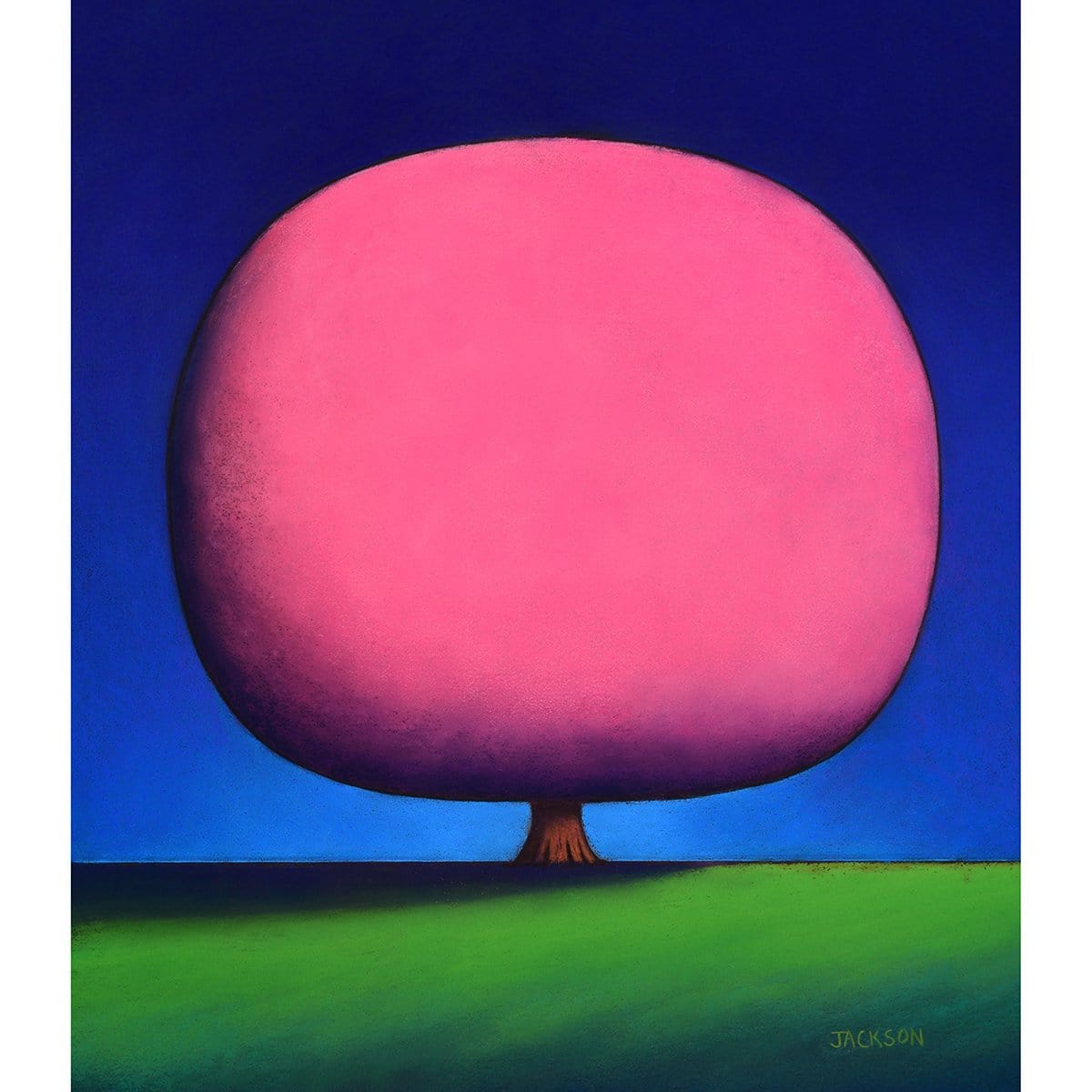 """Happy Pink Tree""-Christopher Jackson-Renee Taylor Gallery"