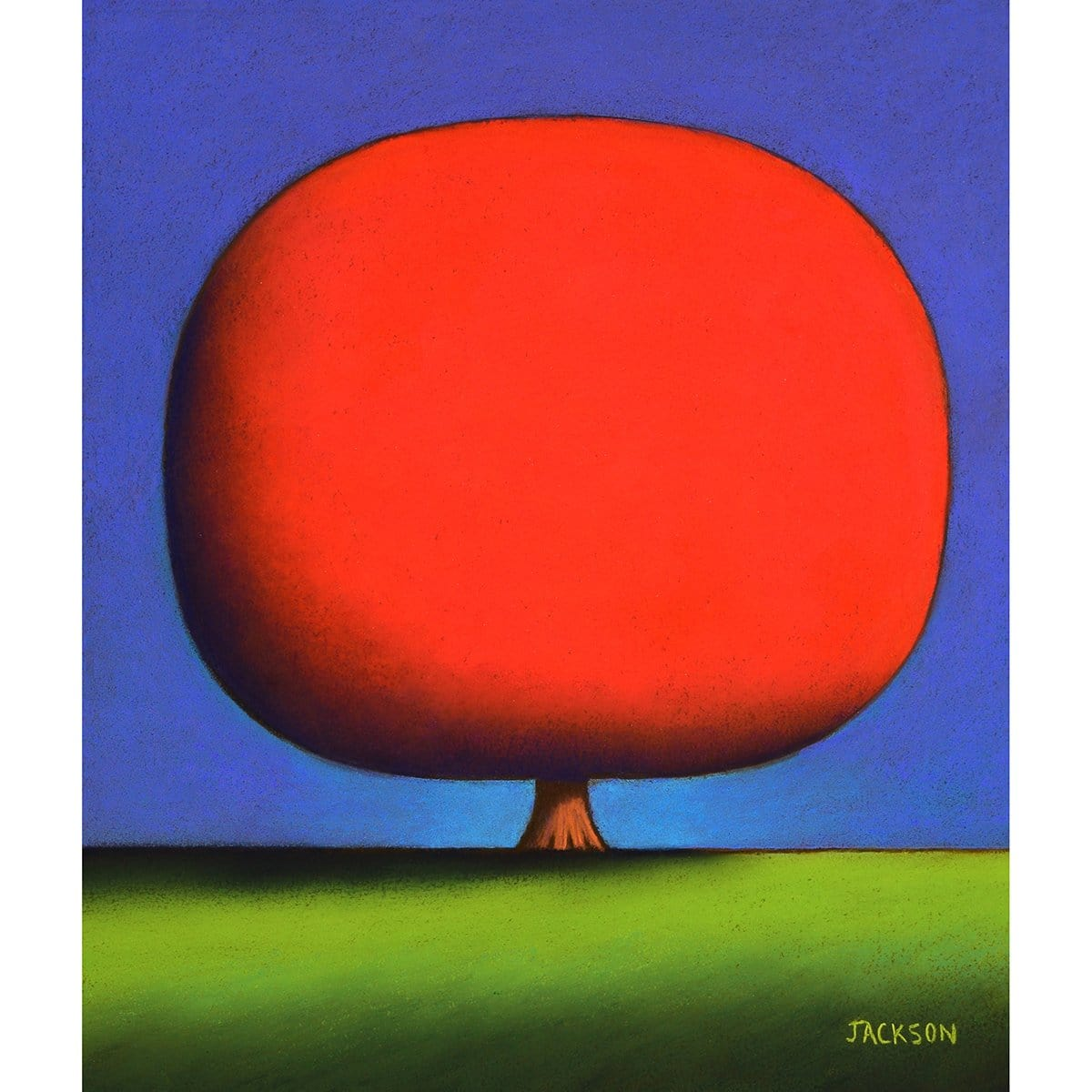 """Happy Red Tree""-Christopher Jackson-Renee Taylor Gallery"