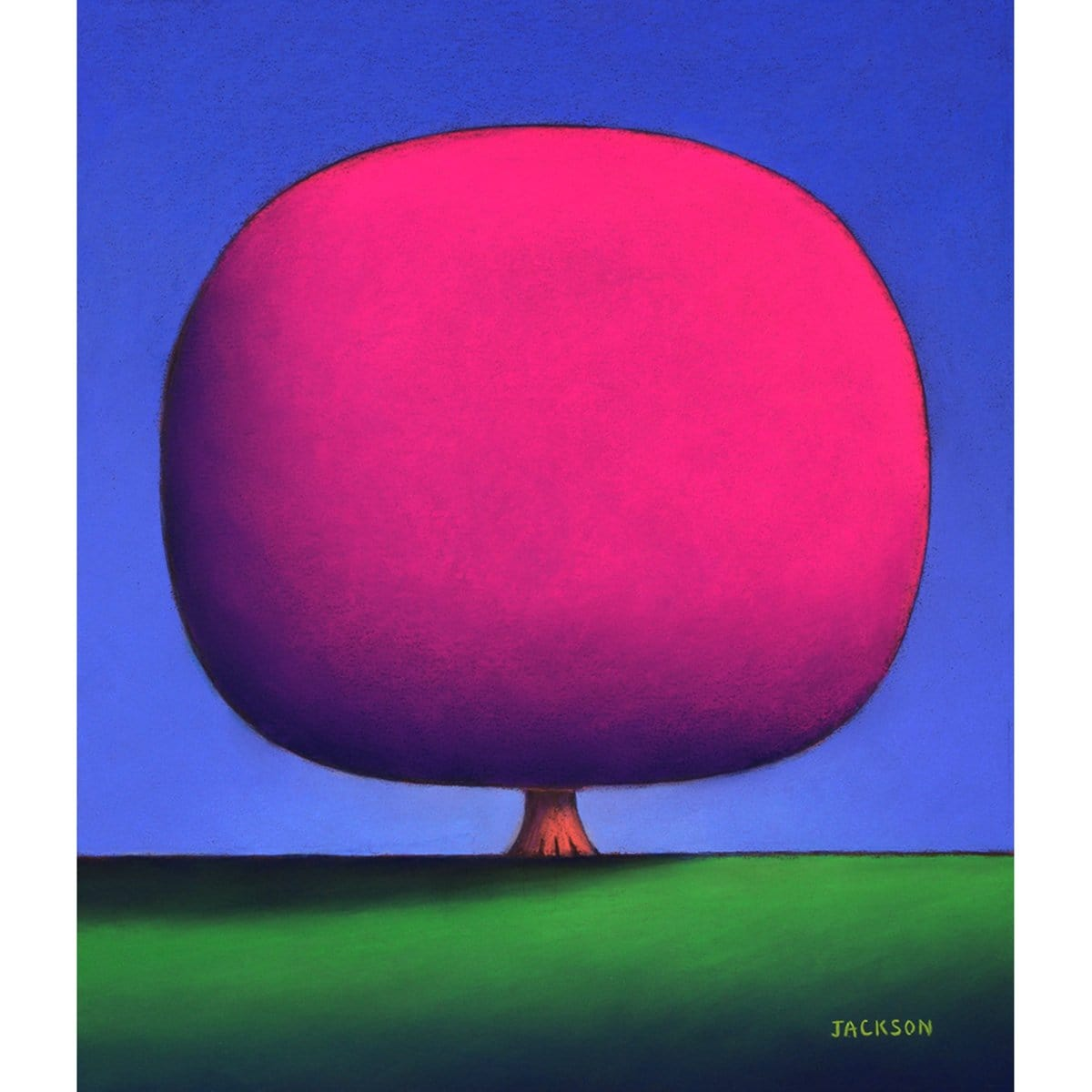 """Happy Red Violet Tree""-Christopher Jackson-Renee Taylor Gallery"