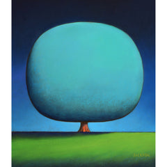 """Happy Turquoise Tree""-Christopher Jackson-Renee Taylor Gallery"