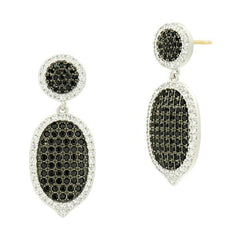 Industrial Finish Pavé Short Drop Earring - IFPKZBKE55-14K-Freida Rothman-Renee Taylor Gallery