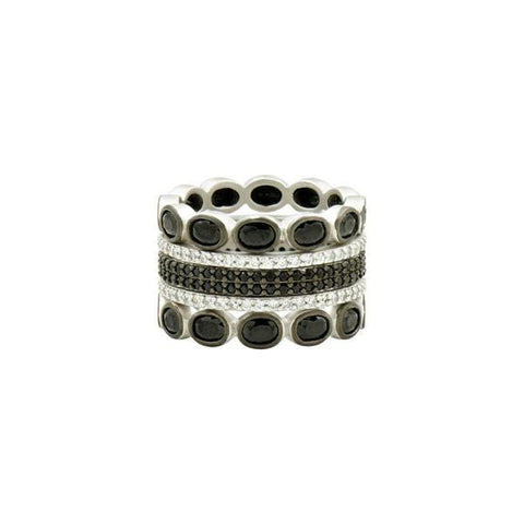 Industrial Finish 5-Stack Rings - IFPKZBKR47-Freida Rothman-Renee Taylor Gallery