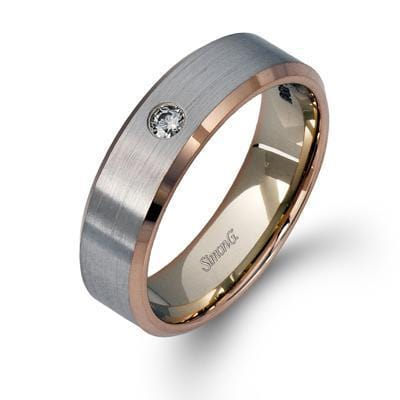 White & Rose 18K Gold Unisex Band - LL108-Simon G.-Renee Taylor Gallery