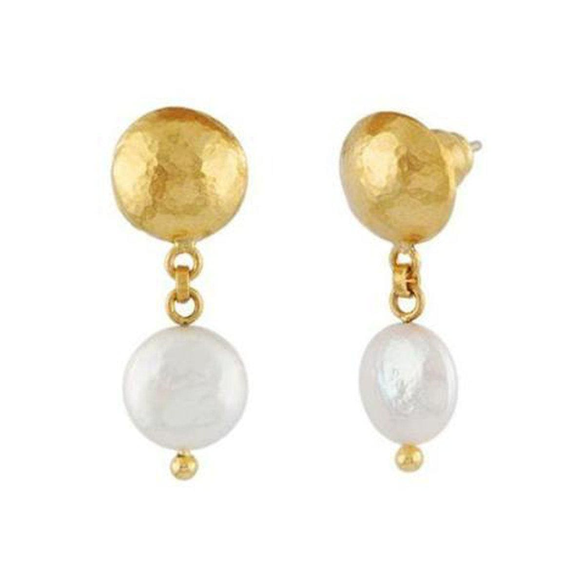 Oyster 24K Gold Pearl Earrings - LTE-BWP-S-SD-GURHAN-Renee Taylor Gallery