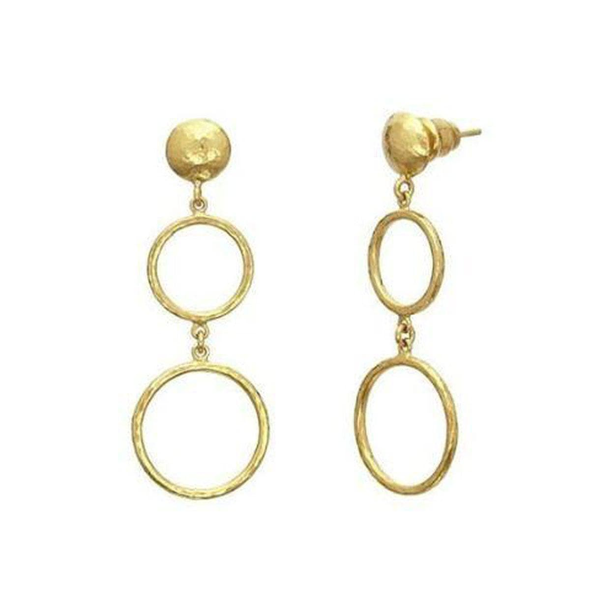 Delicate Gold Earrings - LTE-GPL-14RD-18RD-GURHAN-Renee Taylor Gallery