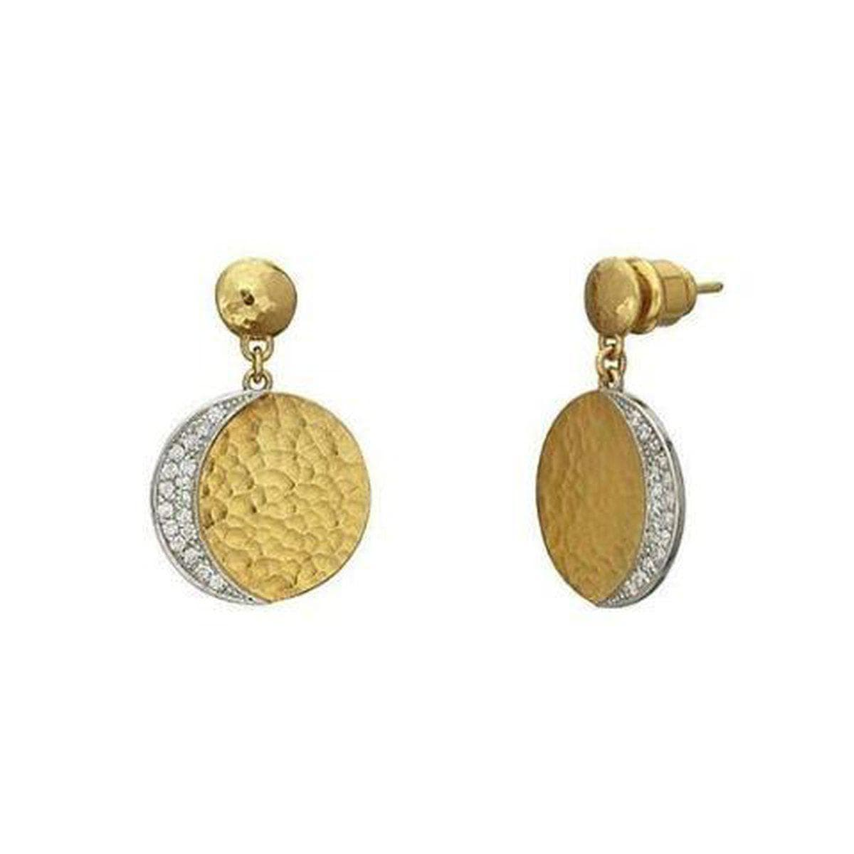 Mango 24K Gold White Diamond Earrings - LTE-LSPV-RD18-DI-GURHAN-Renee Taylor Gallery