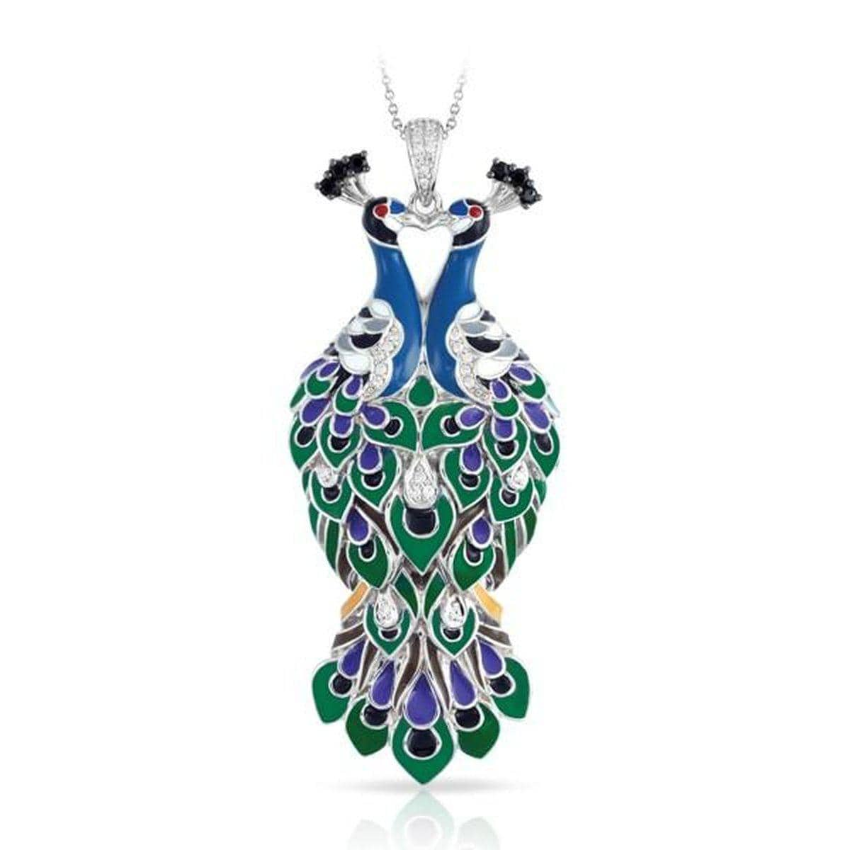Love in Plume Green Pendant-Belle Etoile-Renee Taylor Gallery