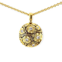 18K Summer Flowers Diamond Pendant - M-105D19-Alex Sepkus-Renee Taylor Gallery