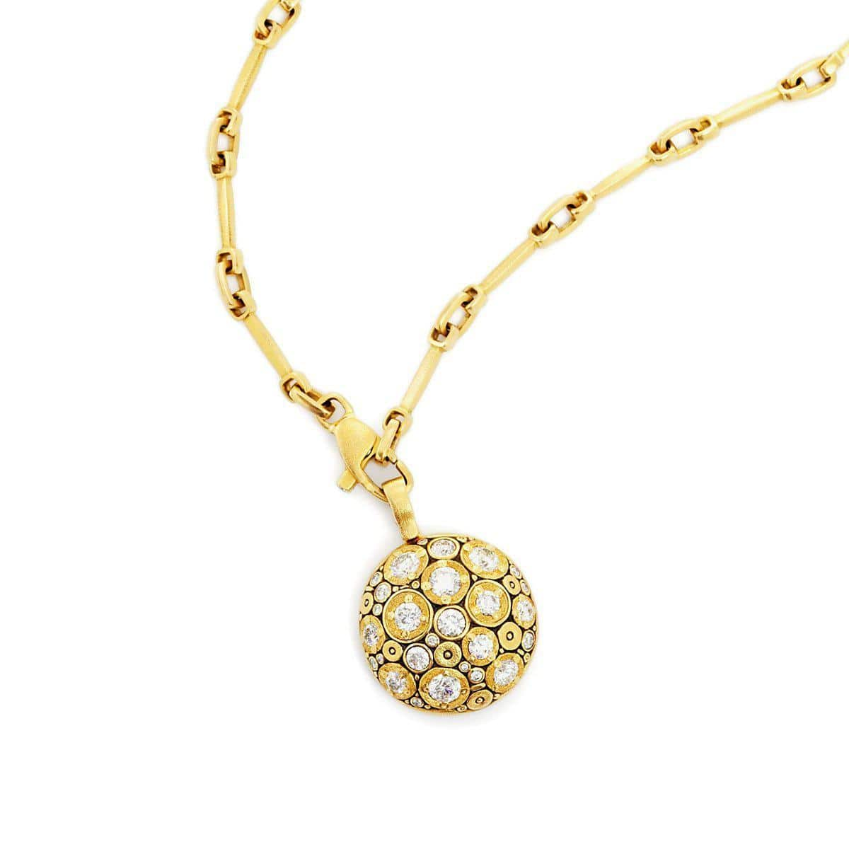18K Blooming Hill Diamond Pendant - M-49D-Alex Sepkus-Renee Taylor Gallery