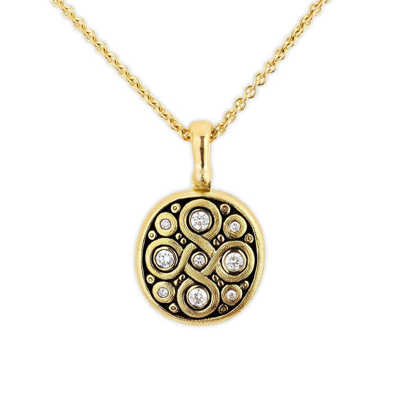 18K Celtic Spring Diamond Pendant Necklace - M-73D15-Alex Sepkus-Renee Taylor Gallery