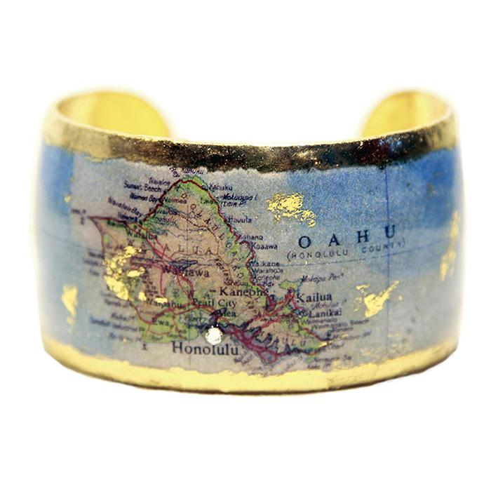 Honolulu Map Cuff - MA108