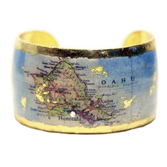 Honolulu Map Cuff - MA108-Evocateur-Renee Taylor Gallery