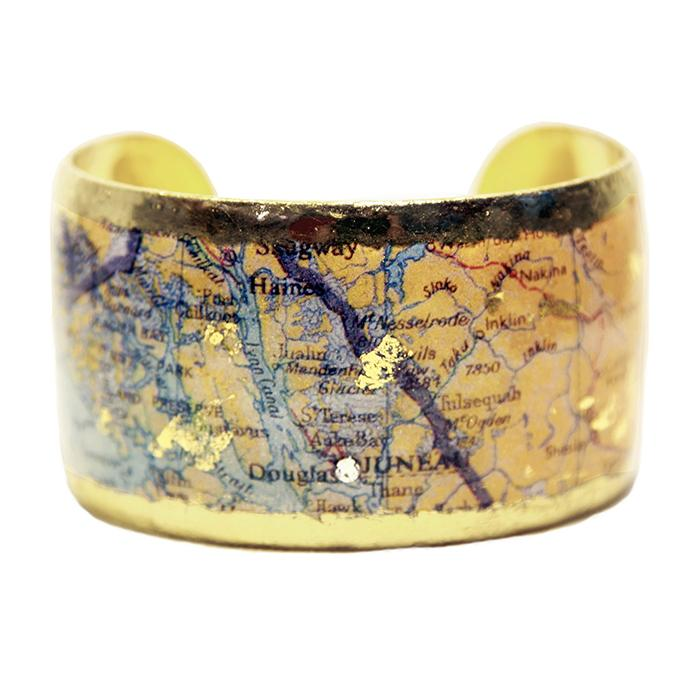 Juneau Map Cuff - MA111-Evocateur-Renee Taylor Gallery
