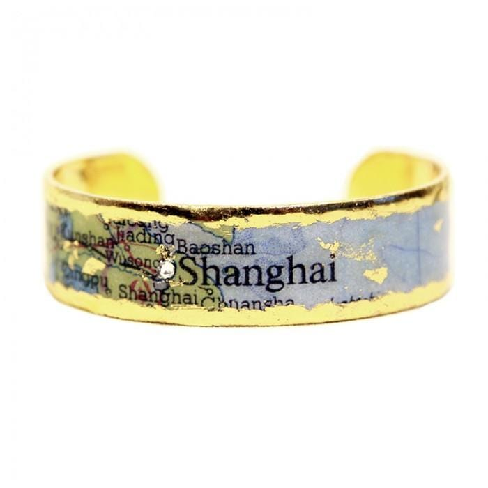 Shanghai Map Cuff - MA116-Evocateur-Renee Taylor Gallery