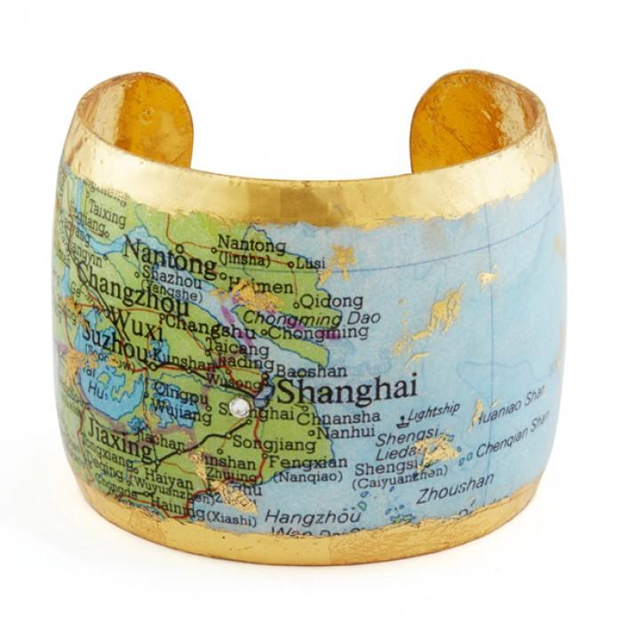 Shanghai Map Cuff - MA118-Evocateur-Renee Taylor Gallery