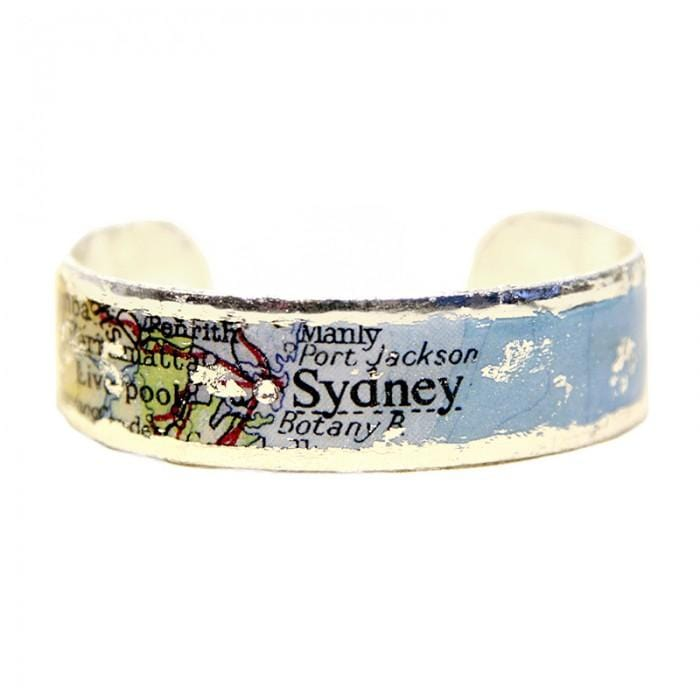 Sydney Map Cuff - MA119-S-Evocateur-Renee Taylor Gallery