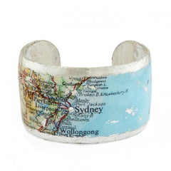 Sydney Map Cuff - MA120-S-Evocateur-Renee Taylor Gallery
