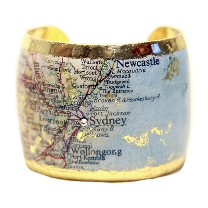 Sydney Map Cuff - MA121-Evocateur-Renee Taylor Gallery