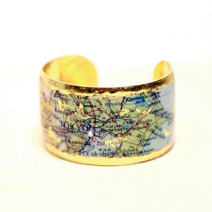 Tokyo Map Cuff - MA123-Evocateur-Renee Taylor Gallery