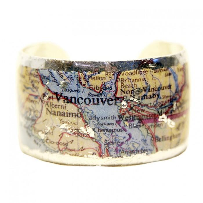 Vancouver Map Cuff - MA126-S-Evocateur-Renee Taylor Gallery
