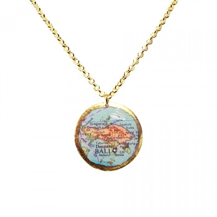 Bali Map Pendant - MA201-Evocateur-Renee Taylor Gallery