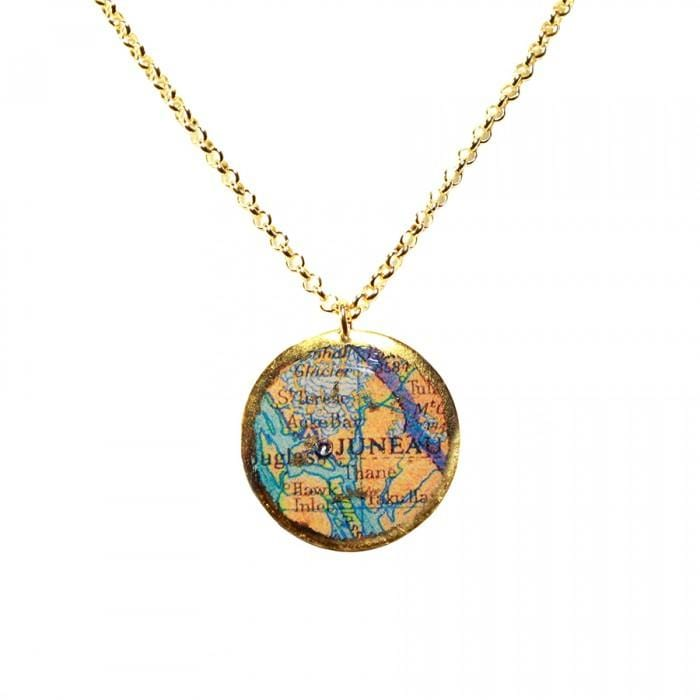Juneau Map Pendant - MA202-Evocateur-Renee Taylor Gallery