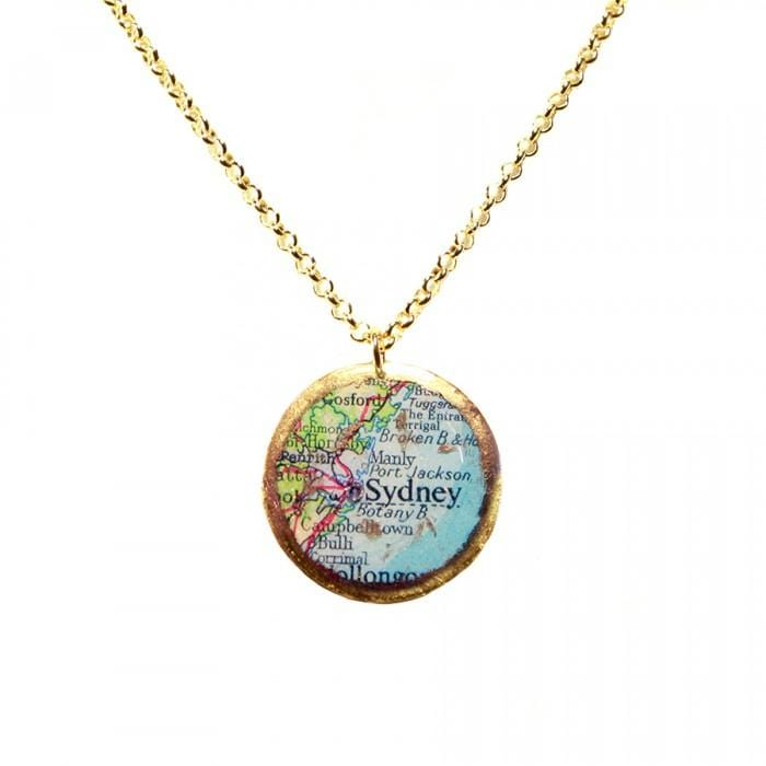 Sydney Map Pendant - MA219-Evocateur-Renee Taylor Gallery