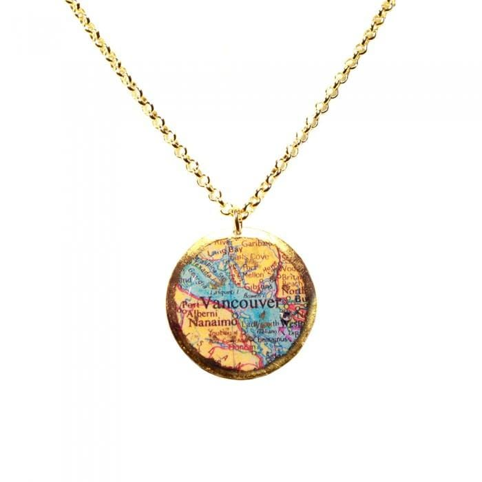 Vancouver Map Pendant - MA225-Evocateur-Renee Taylor Gallery