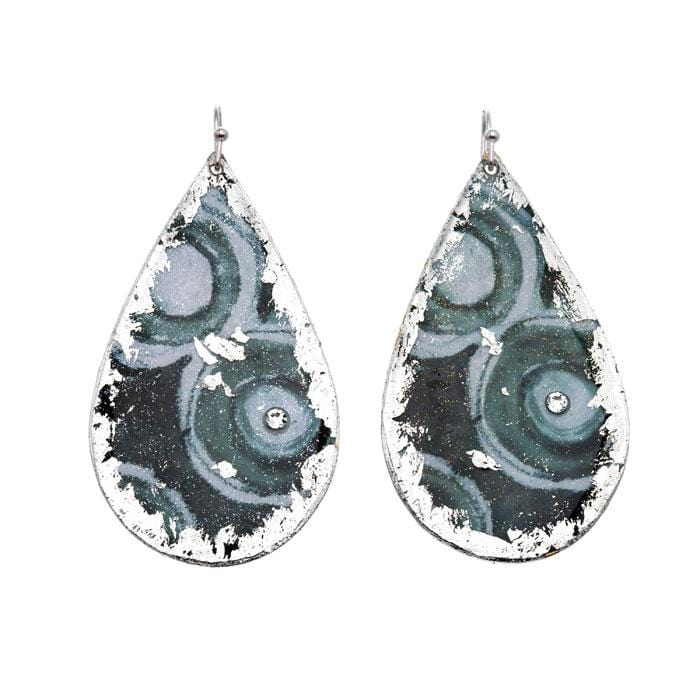 Grommets Teardrop Earrings - MG405-Evocateur-Renee Taylor Gallery