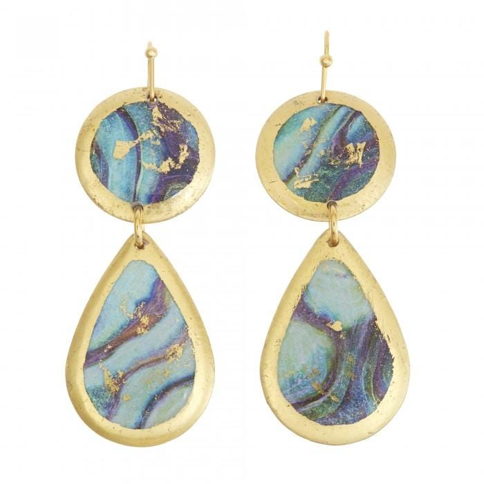 Abalone Mini Teardrop Earrings - MI407-Evocateur-Renee Taylor Gallery