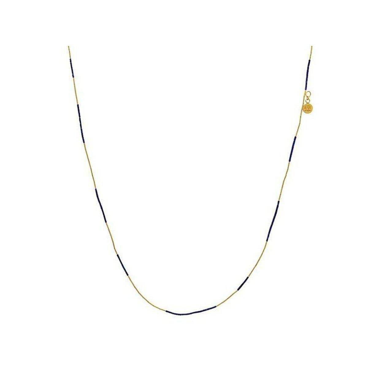 Delicate Hue 24K Gold Multi Stone Necklace - MN1-LATQ-16ST-PL-36-GURHAN-Renee Taylor Gallery