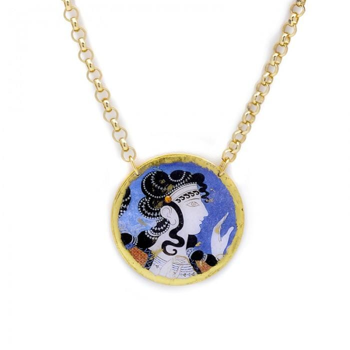 Ladies in Blue Pendant - MU219-Evocateur-Renee Taylor Gallery