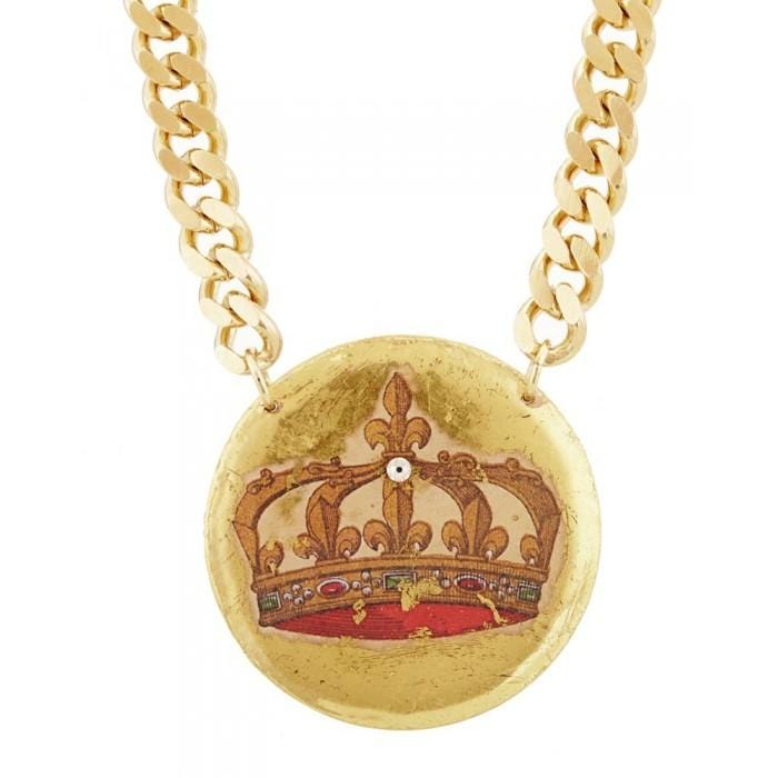 French Crown Large Pendant - MU229-Evocateur-Renee Taylor Gallery