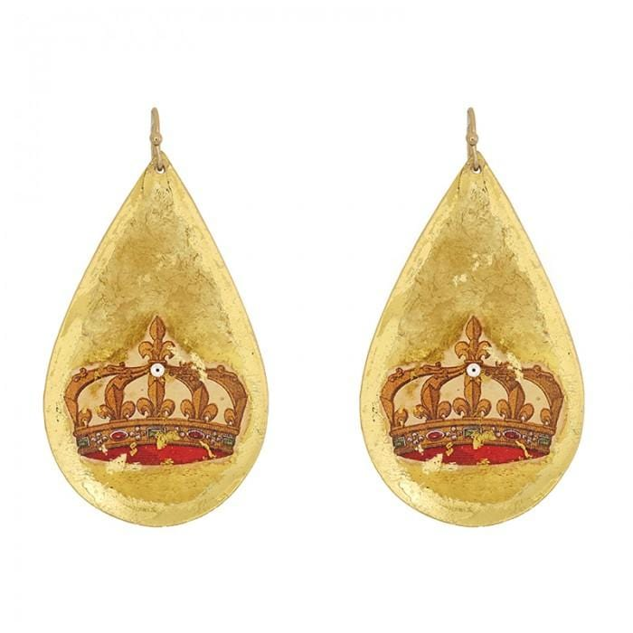 French Crown Earrings - MU421-Evocateur-Renee Taylor Gallery