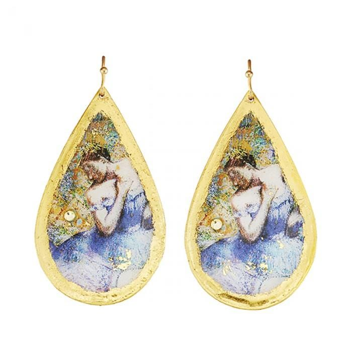 Degas Ballerina Teardrop Earrings - MU423-Evocateur-Renee Taylor Gallery