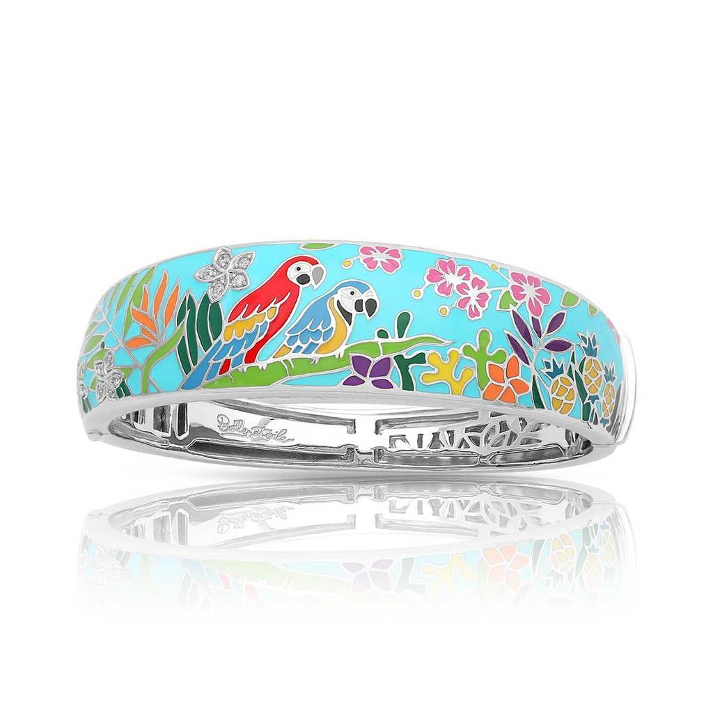 Macaw Blue Bangle-Belle Etoile-Renee Taylor Gallery